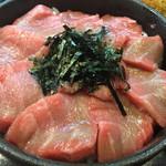 のっけ家 - 本鮪大とろ頭肉丼   ¥1,728-