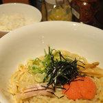 焼肉・ホルモンの白河 - ランチ「元祖和えそば 600円+明太子50円」