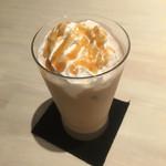 カフェ・ギャラリー タロイモ - 新メニューのアイスキャラメルオレをいただきました。