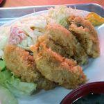 竹内食堂 - カキフライアップ