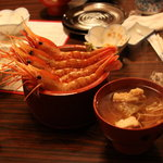 日野亭 - ぼたん海老丼