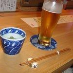 旬采遊膳 あつみ - キーンと冷えたビール