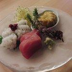 旬采遊膳 あつみ - おつくりは三種選べました 新鮮