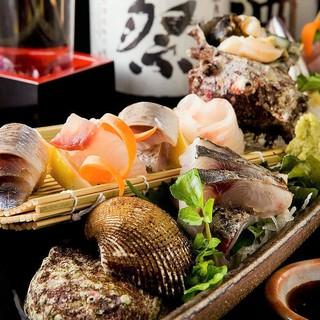 『宝の海』天草で採れた魚を産地直送で仕入れ、新鮮です。