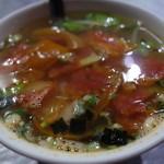 喬品賣炒飯 - 蕃茄蔬菜湯(130円)2015年11月