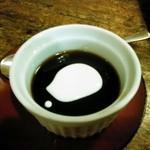 古式手打うどんそば 達磨 - サービスのコーヒーゼリー