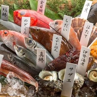 全国から仕入れる季節の鮮魚!
