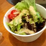 らっぱのやすべえ - ランチのサラダ