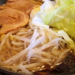 ら~めん工房 海 - キララブラック醤油大盛り
