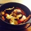 トリッパ(牛胃袋)とチョリソー、レンズ豆のグラタン