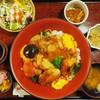鳥茶屋 - 料理写真:(上)鳥すき御膳(デザート付き)