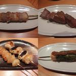 やきとりの炭活 - 料理写真:焼き鳥(串焼き)その1。どれも絶品。