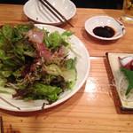 海鮮屋台 おくまん - 刺身が乗ったおくまんサラダ☆ &蛸ぶつ☆