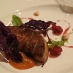 バー&ダイニング 「クラウズ」 - フォアグラのソテーと柿のコンフィ