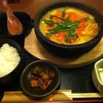 甘太郎 - 週替わり定食 チゲ鍋 ¥700