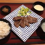 炭焼・仙台牛たん あかり - 極上タン3枚定食