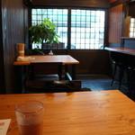 宮川伊吹 - 奥の4人テーブル席に着きました
