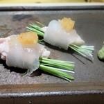 銀座 柳寿司 三代目 - かわはぎ