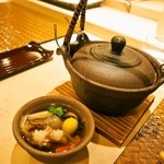 鮨 棗 - すっぽん&舞茸の土瓶蒸し