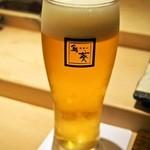 鮨 棗 - 生ビール