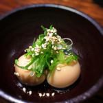 大阪食酒 リエカオ - 付出し(うずらの煮卵)
