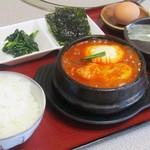 スンドゥブ(純豆腐)セット