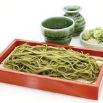 静岡県産 抹茶と天竜川伏流水でつくった 茶蕎麦せいろ
