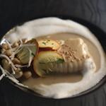 デュ・ヴァン・ハッシシ - キノコ茸とスズキのポアレ
