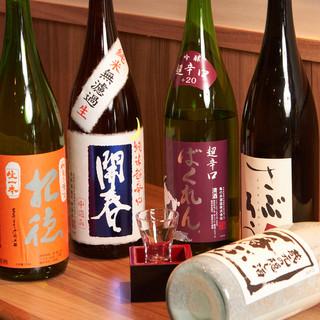 小さな蔵元の貴重な日本酒、焼酎がおすすめ