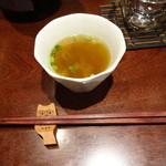 44200271 - お通しのヤマドリダケモドキのスープ