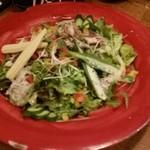 44200463 - 焼鯖と秋ナスの野菜たっぷりサラダ。980円
