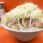 暴豚製麺所 - 野菜最大増量…(きっちり完食しました☆)