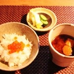 O・mo・ya - いくら御飯・赤出汁・糠漬け!!Σ(・ω・ノ)ノ!