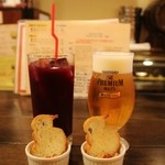 44207321 - 生ビール&アサイージュース!!( *´艸`)