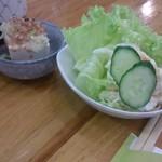 44208016 - サラダとお豆腐 2015/6