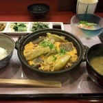 ふじわら - 今日のランチ「豚肉とナスのすき焼き風」