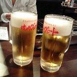 焼肉グレート - クーポン利用☆ビールで乾杯♪