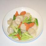 東光飯店 - 蘆筍鮮貝(帆立とアスパラの炒め)