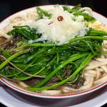 自家製麺キリンジ - セリラーメン(大盛無料):780円/2015年11月
