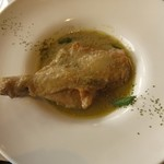 44214078 - 骨付き鶏モモ肉のスパイシーグリーンカレー