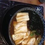 龍王 - 生湯葉蕎麦900円。