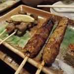 丸天 - 料理写真:【つくね】1本120円 タレ焼き