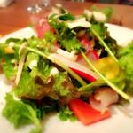 44217346 - 鎌倉市場の野菜と朝獲れ鮮魚のサラダ 1,300円