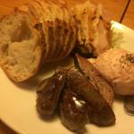 串かつ 山吹 - 生ハムのムースとレバーのコンフィ