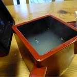 曄 - 湯桶に蕎麦湯