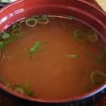 七フクロウ - 味噌汁