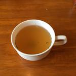 カフェ・ドンキホーテ - 最初にスープです