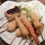 Kushiagedokoromikushi - 串揚げ10本定食のメイン