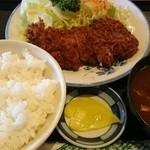 とんとん亭 - ロースかつ定食¥750-