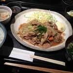九楽々 - 九楽々青山店(豚生姜焼き定食)